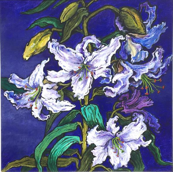 White Lilies by Patricia Clements