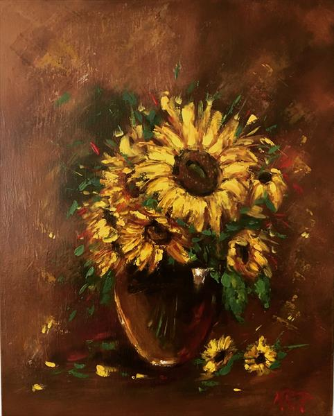 Sunflowers  by Marcela Rogel de Pepper