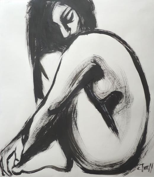 Posture 7 - Female Nude by Carmen Tyrrell