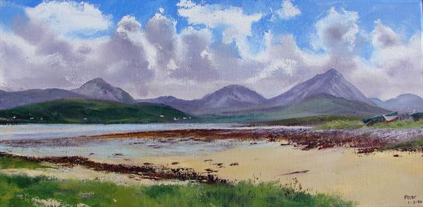 Magheroarty, Donegal, plein air sketch 1/8/14 by Peter Brook