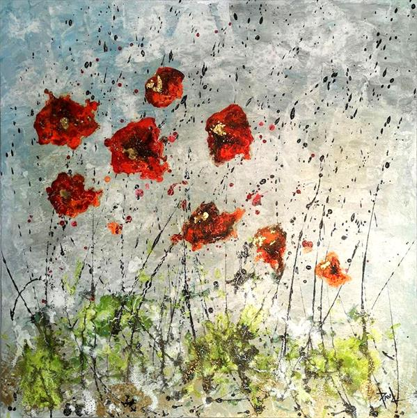 Poppies in the Wind by Paul Chambers