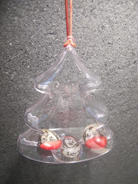 Christmas decoration - personalised transparent tree bauble by Ioannis Mitrakas