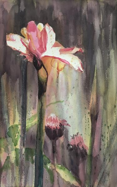 Moody Pink Torches II by Susan Clare
