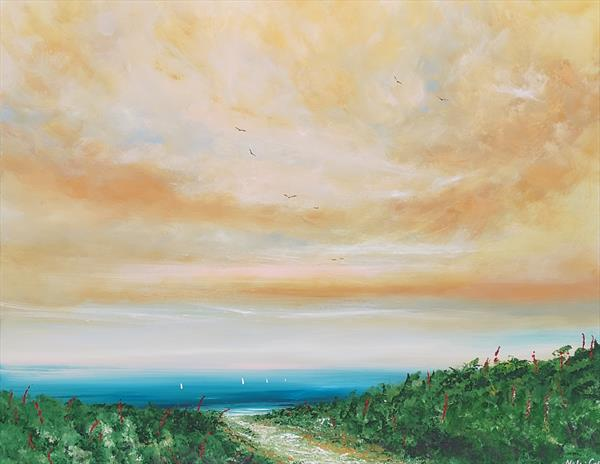 To the Beach - Large Seascape by Melanie Graham