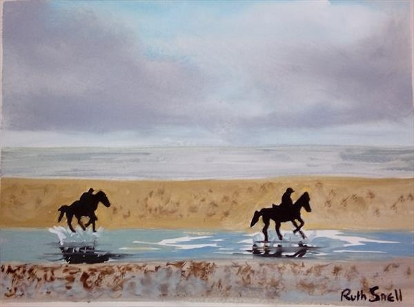 Riding the Storm and the Sandbar by Ruth Snell