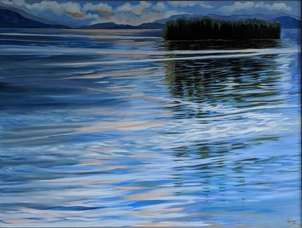 Rippled Lake  by Afsheen Nasir