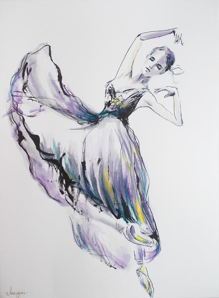 Enchanted III - Ballerina Series Painting by Antigoni Tziora
