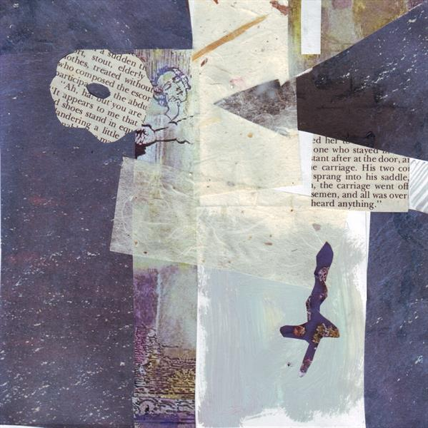 Blue Collage 1 by Mary Adam