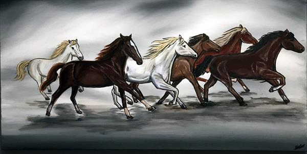 Galloping In Unison by Aisha Haider