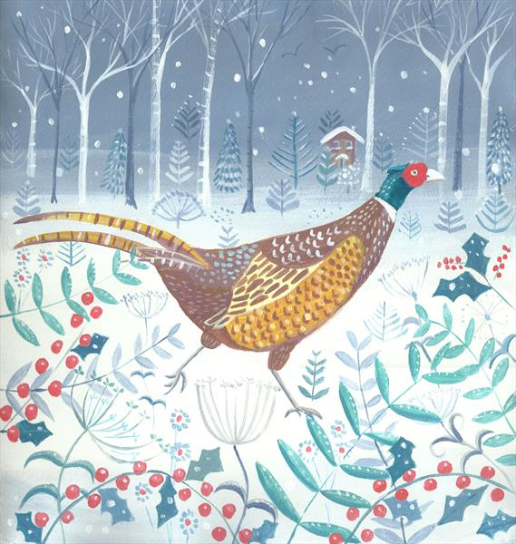 Pheasant in Winter by Mary Stubberfield