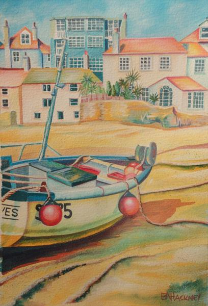 St Ives Harbour by Liz Hackney