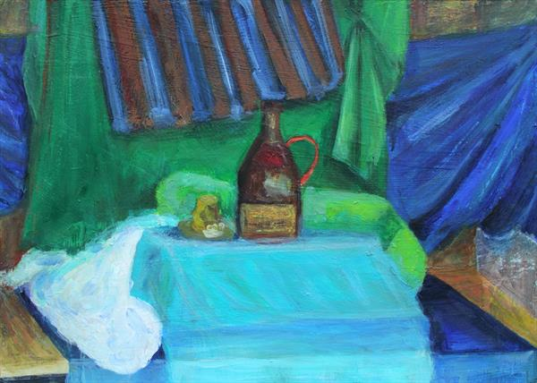 Still Life with Mead Bottle : 20