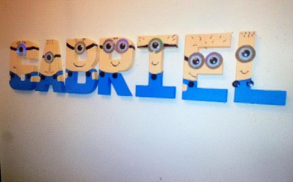 Minion children's letters by Tracy Jolly
