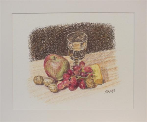 Apple, Grapes, Walnuts & White Wine by Ian Soames