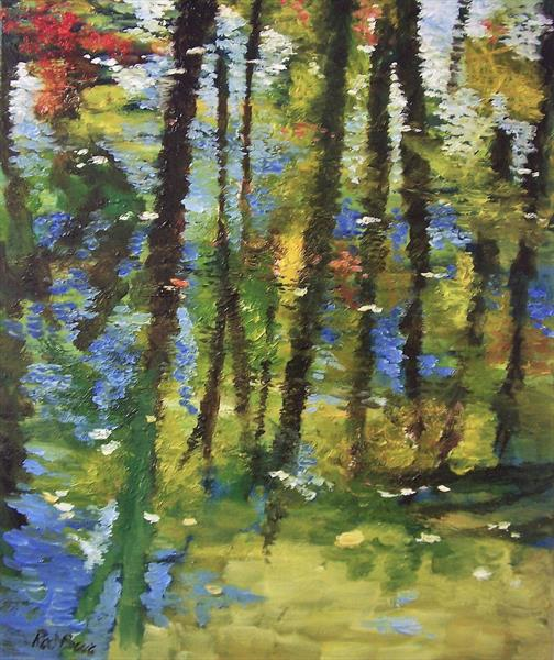 Woodland reflections by Rod Bere