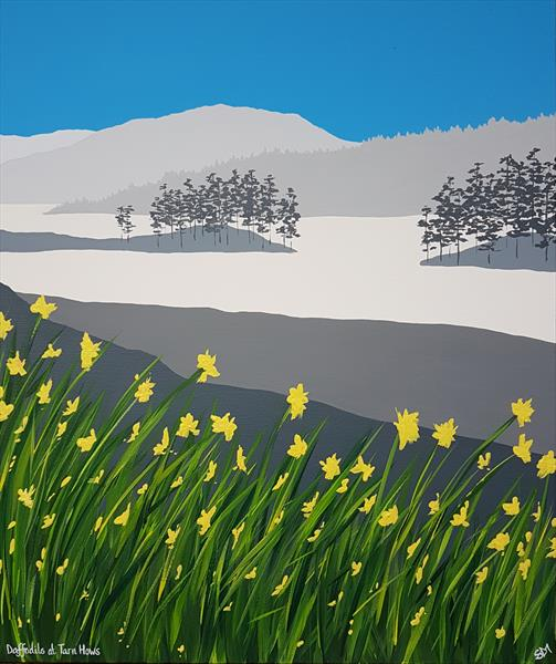 Daffodils at Tarn Hows, The Lake District by Sam Martin