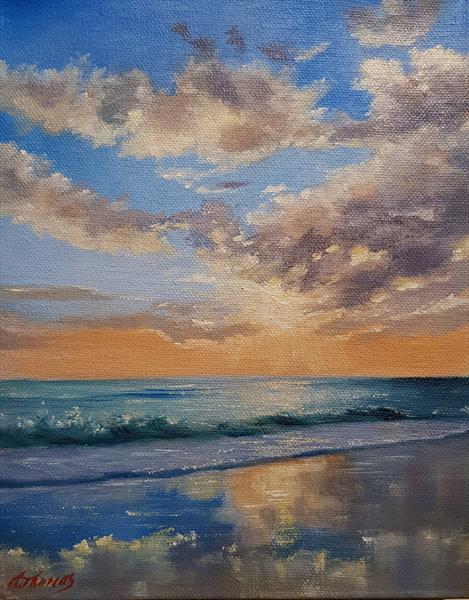 Reflections in the sand by Andrea Thomas