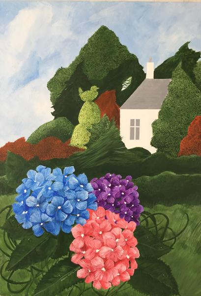 Hydrangea Summer: the White Lodge by David King