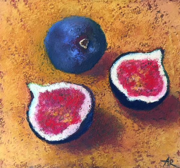 Figs Pastel Drawing  by Alena Rumak
