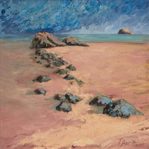 Stepping Stones - North Berwick (Limited edition giclee) by Tracey Pacitti