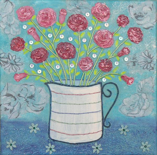 *SALE* Jug of Roses by Josephine Grundy
