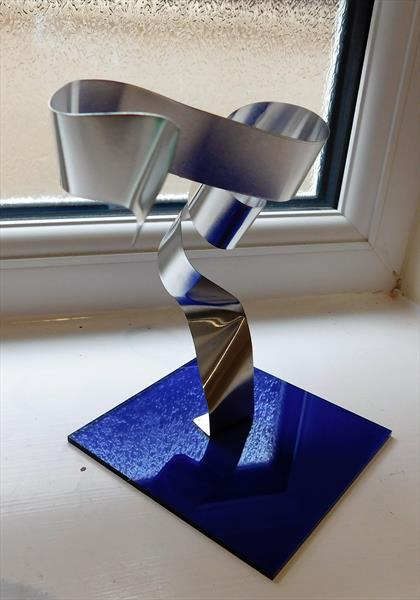 Modern Metal Sculpture Aluminium  by susan wooler