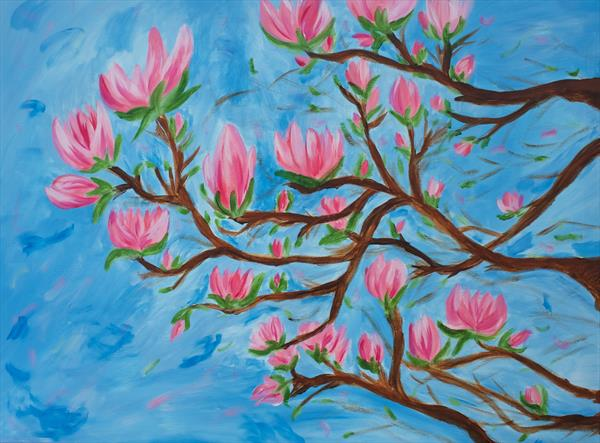 Magnolia in bloom by Becky Danese
