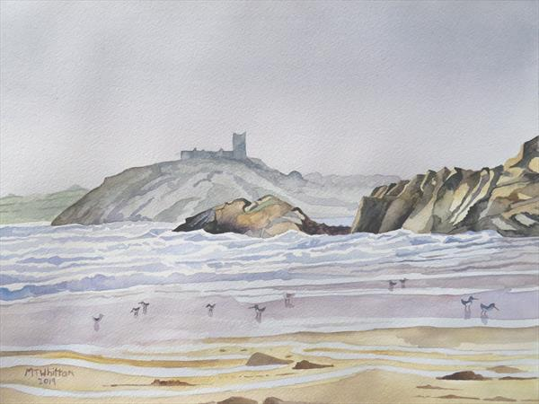 Criccieth Castle from Black Rock Sands by Martin Whittam