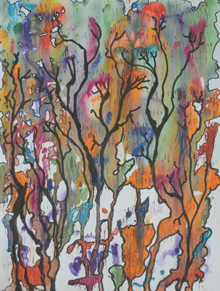 Autumn trees remembered by George Hunter