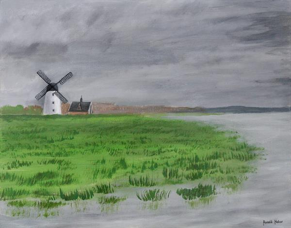 Lytham St Annes on Sea Windmill and Boathouse  by Ronald Haber
