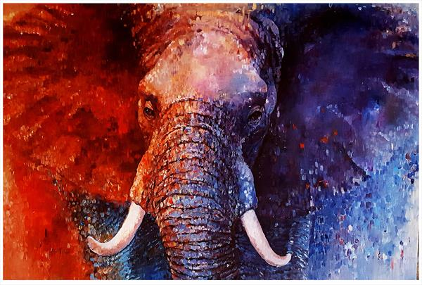 Coral King_African Elephant by Arti Chauhan