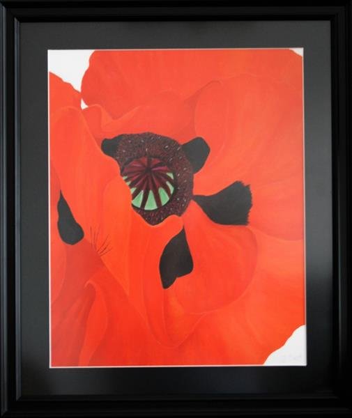 Red Poppy Print. by Jess Fuller