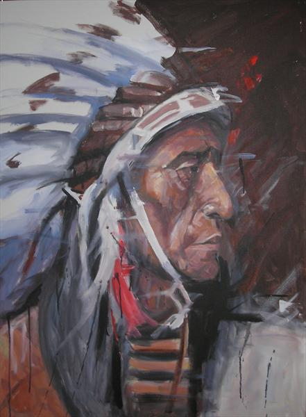 Jack Red Cloud by Dawn Ogden-white