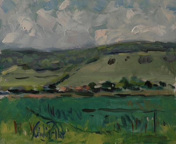 The Downs at the Long Furlong by Andre Pallat
