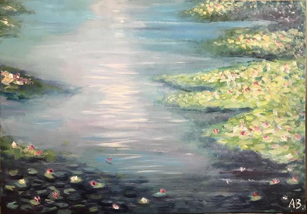 Water Lilies 3 by Abby  Browne