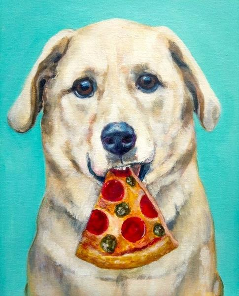 Pizza Mutt by Victoria Stanway