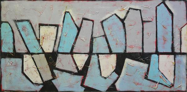 Abstract Painting - Friendly CityScapes - 446 by Ronald Hunter