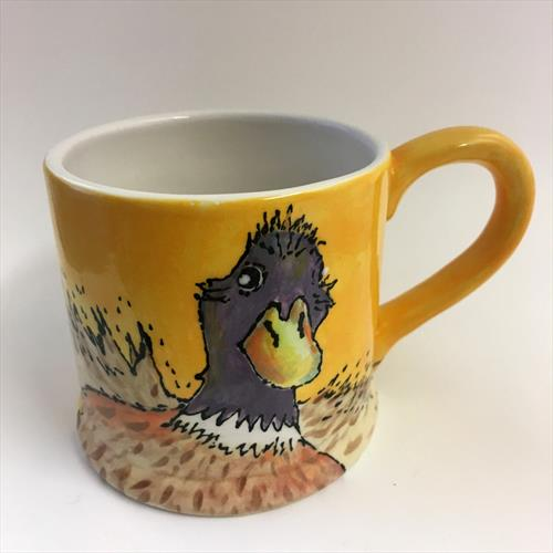 Cute Duck Ceramic Art Mug by Julie Anne
