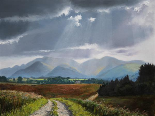 Sunlight over Keswick by David Barber