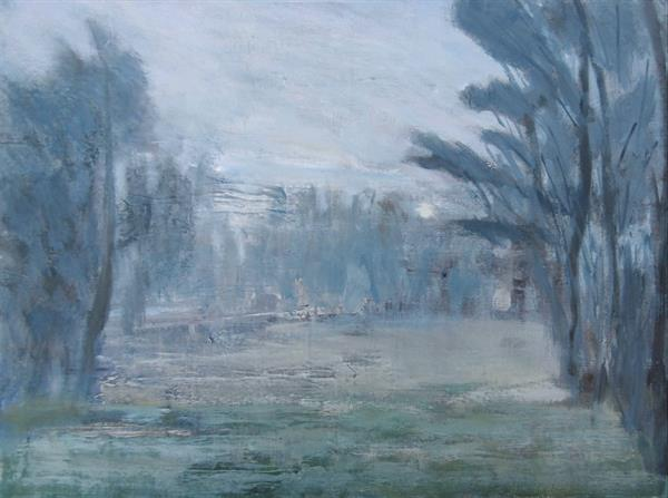 Misty Clearing, Winter by Nikki Wheeler