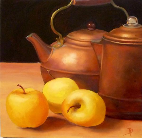 Copper Kettles, limited edition Giclée print made from the original painting by Diana Davydova