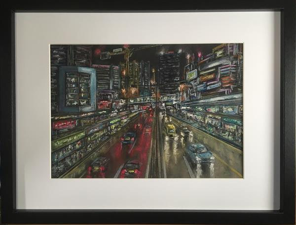 Neon metropolis  by Damion  Maxwell