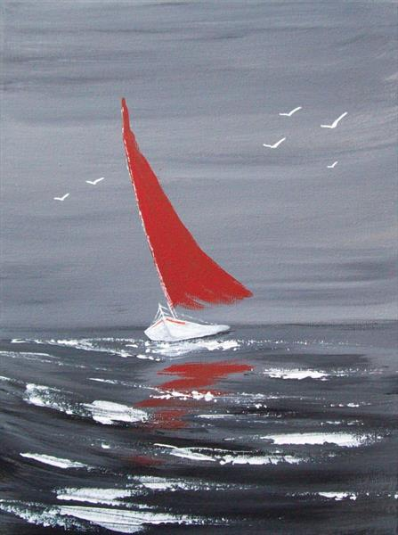 The Red Sail by Patricia Richards