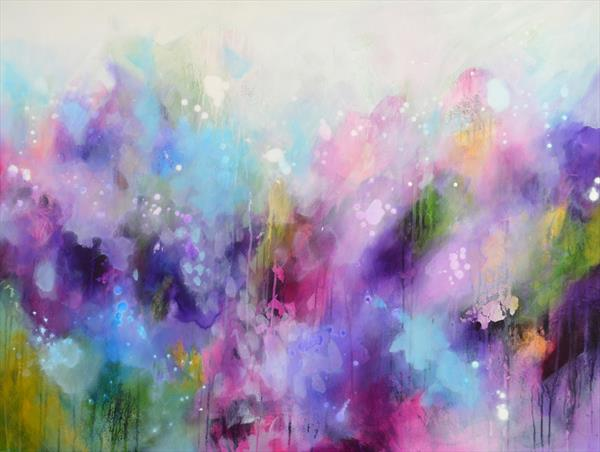You Have Been Loved - Large Original Abstract Painting by Tracy - Ann Marrison