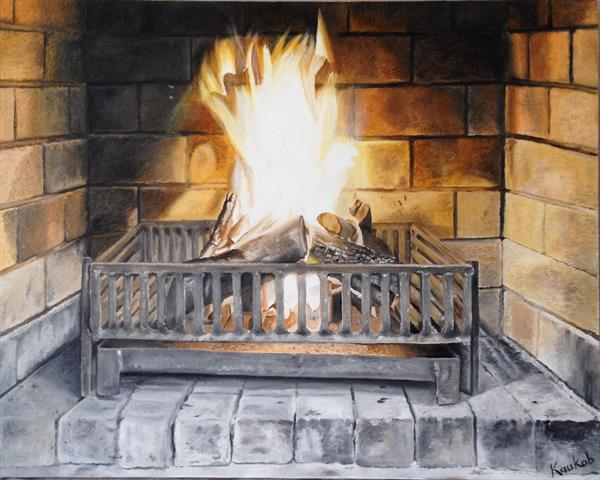 Fire place by Mariam Kaukab