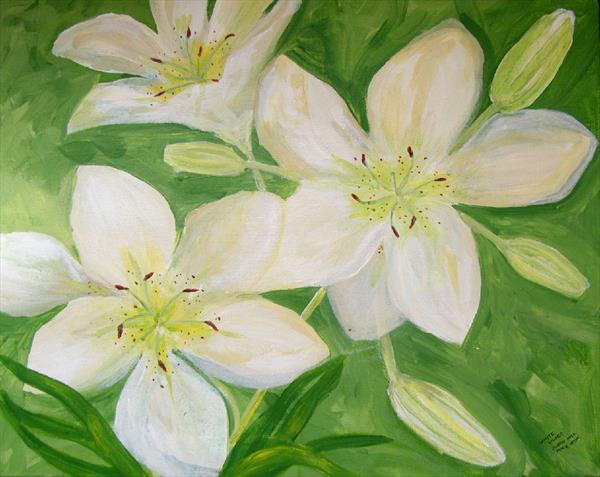 White Lillies by Susan Hill