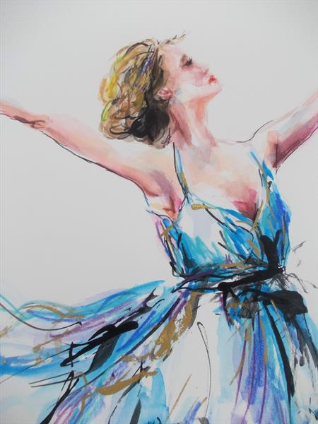 Enchanted - Ballerina Series Painting by Antigoni Tziora