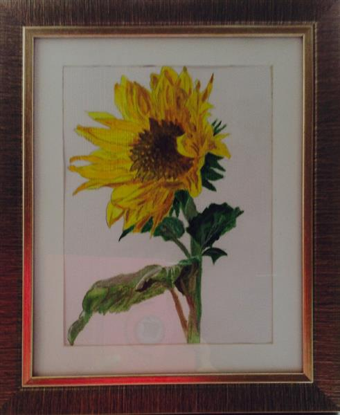 Sunflower for CANCER charity by Sheila Skilton