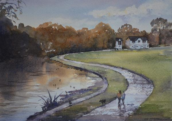 The Cricket Club House, Saltaire by Denise Mitchell
