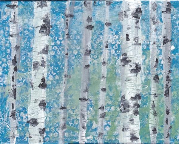 Birch Trees by Charlotte Manning